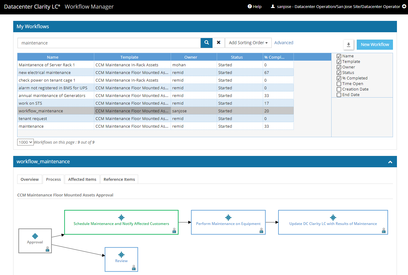 DCIM Workflow Manager